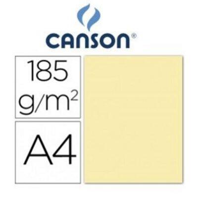 cartulina canson A4 185g crema