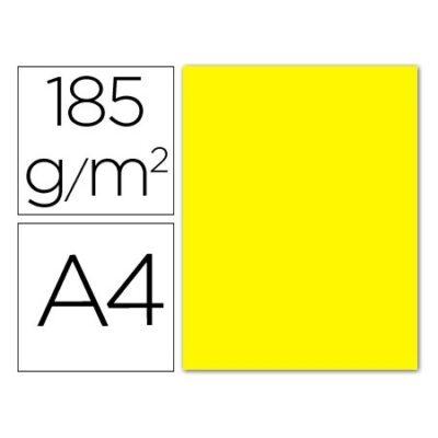cartulina canson A4 185g amarillo canario