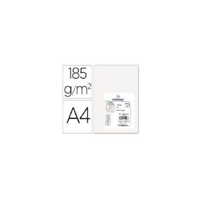 cartulina canson A4 185g blanco