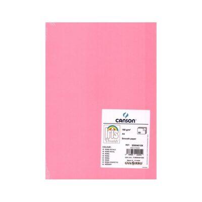 cartulina canson A4 185g rosa