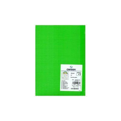 cartulina canson A4 185g verde billar