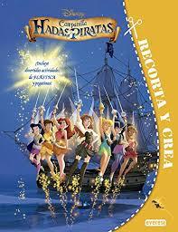 libro recorta y crea campanilla hadas y piratas