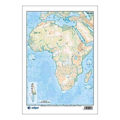 MAPA MUDO FISICO AFRICA
