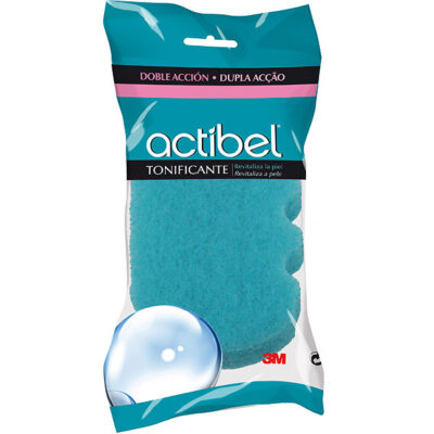 actibel esponja baño tonificante doble