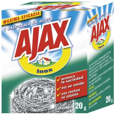 ajax estropajo acero inoxidable 20g