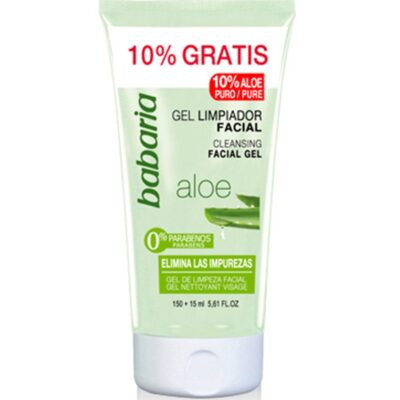 BABARIA GEL LIMPIADOR FACIAL ALOE VERA 150+15ML