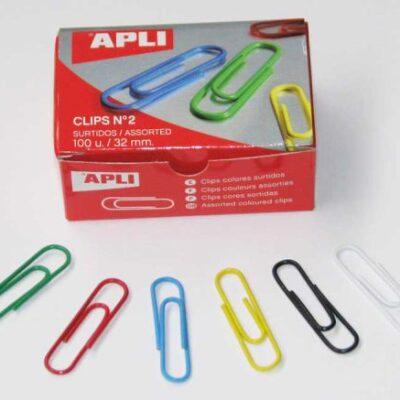 CLIPS APLI Nº 2 COLORES 100U.