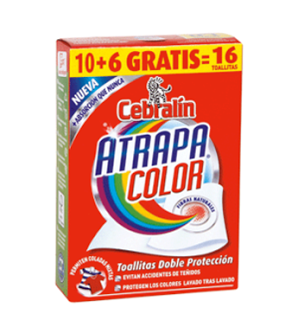 cebralin atrapa color toallitas 10+6