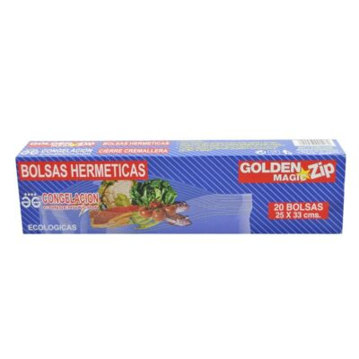 golden magic bolsas hermeticas zip 20bol medida 25×33