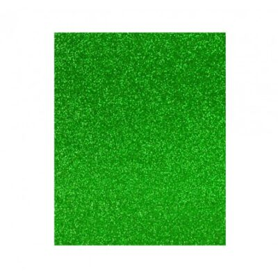 goma eva purpurina verde 40×60