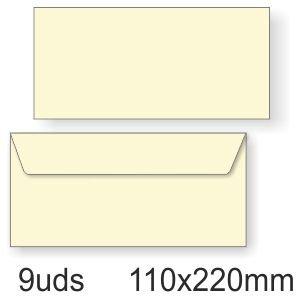 sobres blancos alargados pack 10 tamaño 110 x 220