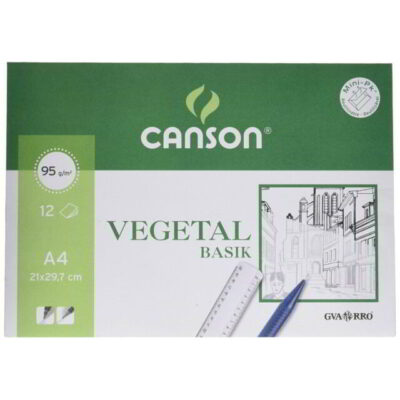LAMINA VEGETAL A4 95G PACK 12 CANSON